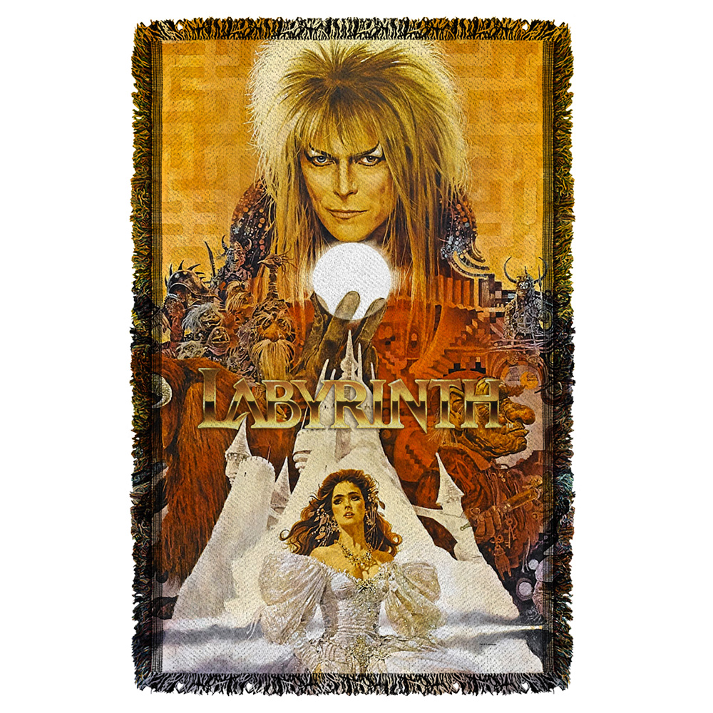 Labyrinth Crystal Ball Woven Throw White 48X80