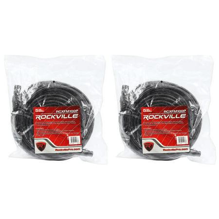 2 Rockville RCXFM100P-B Black 100' Female to Male REAN XLR Mic Cable 100% Copper