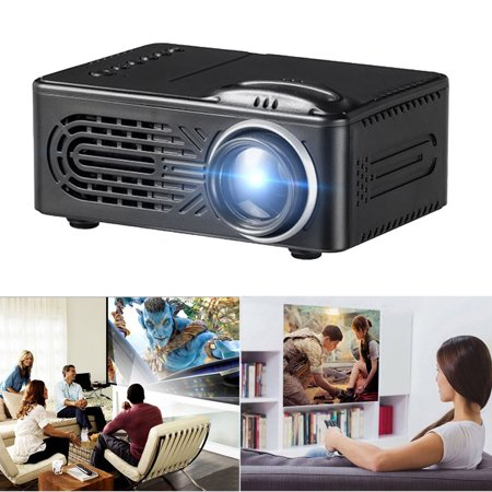 Outtop 600 Lumens HD 1080P LED Multimedia Projector Home Theater Cinema VGA HDMI USB SD