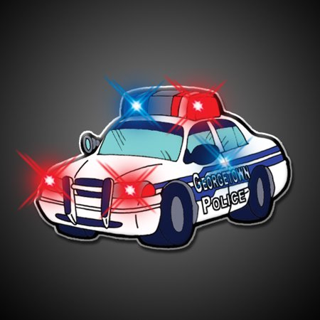 FlashingBlinkyLights Police Car Flashing Blinking Light Up Body Lights Pins - Pin Up Lights