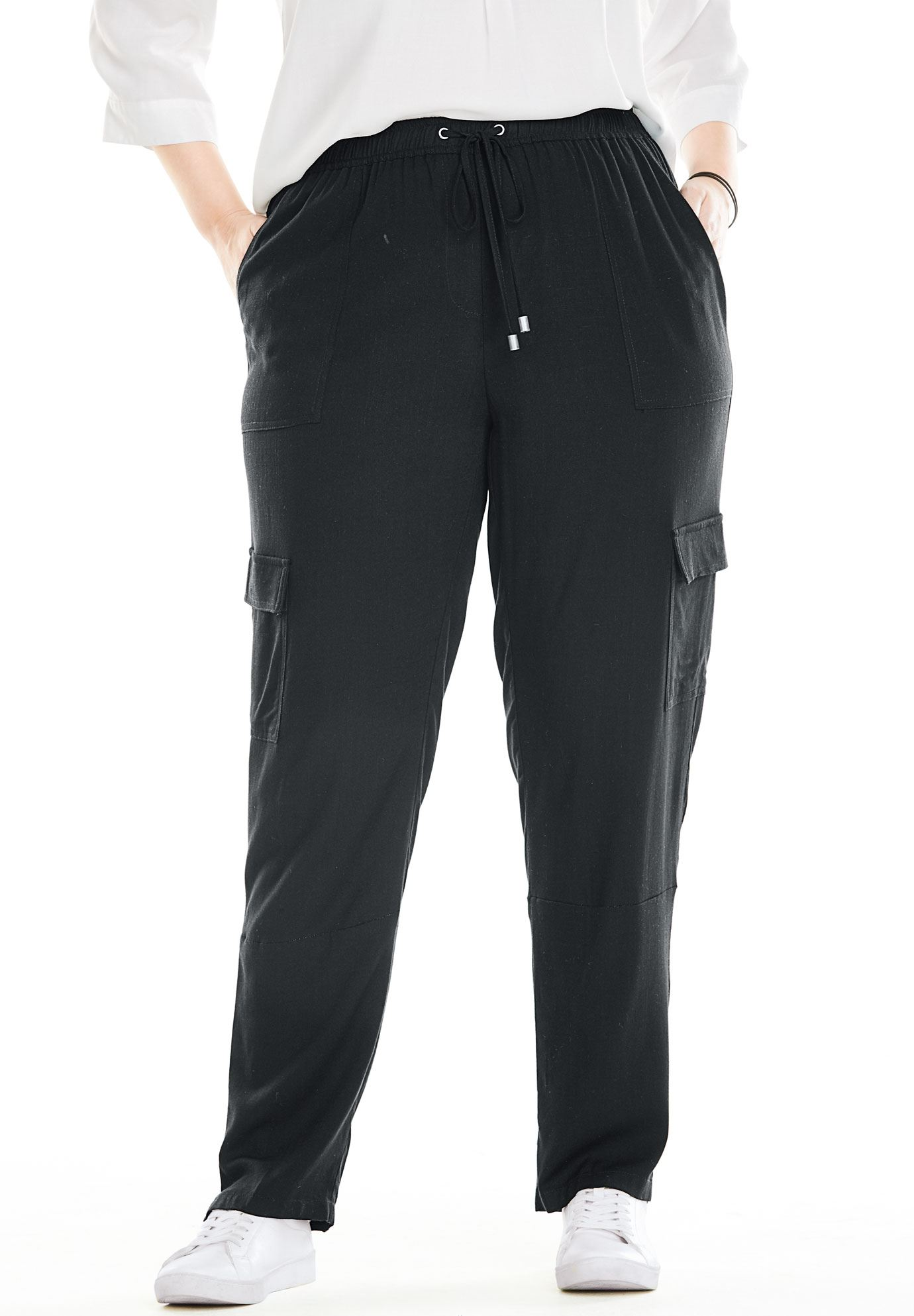 Woman Within Plus Size Cargo Pocket Utility Pant