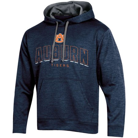 Tiger Athletic Sweatshirt - Men's Russell Navy Auburn Tigers Synthetic Pullover Hoodie