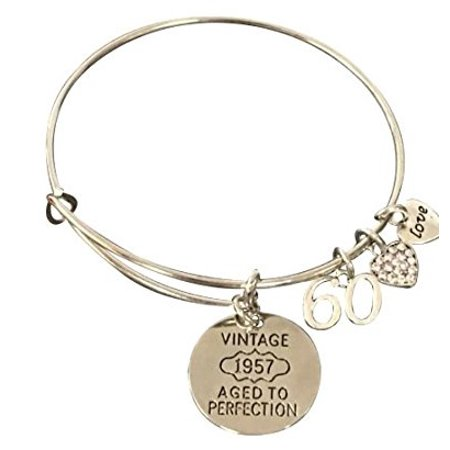 60th Birthday Gifts For Women Charm Bracelet Perfect Gift Ideas