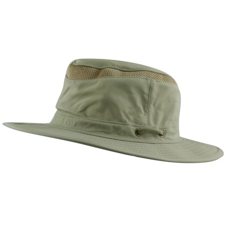 ee31de2d351 Bucket Safari Hat w  UPF-50 Sun Protection Quick-Dry Mesh Crown Crushable  and Foldable Ventilated - Walmart.com