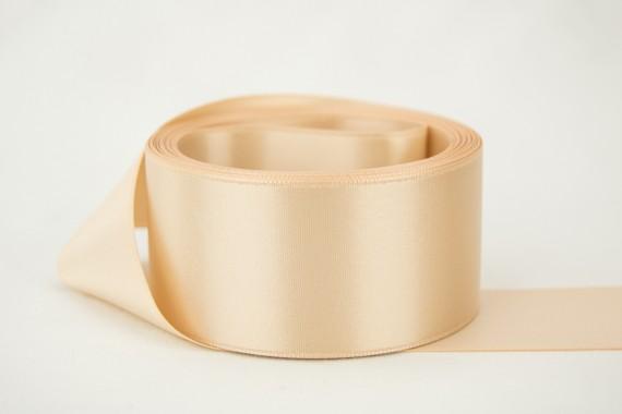 Vintage Tan Satin Ribbon 3//8 inch   2 Yards