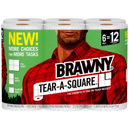 Brawny Tear-A-Square Paper Towels, 6 Rolls - Halloween Crafts With Paper Towel Roll