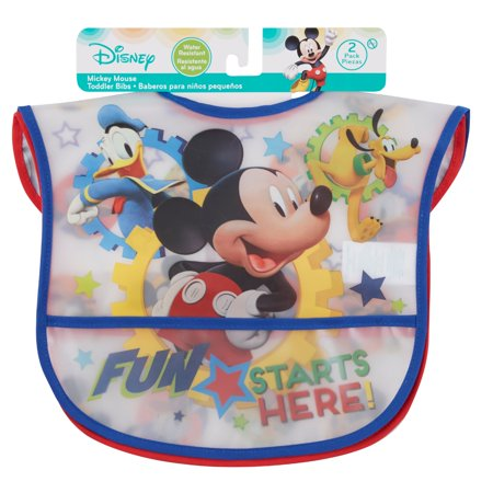 Mickey Mouse Bib, 2 Pack