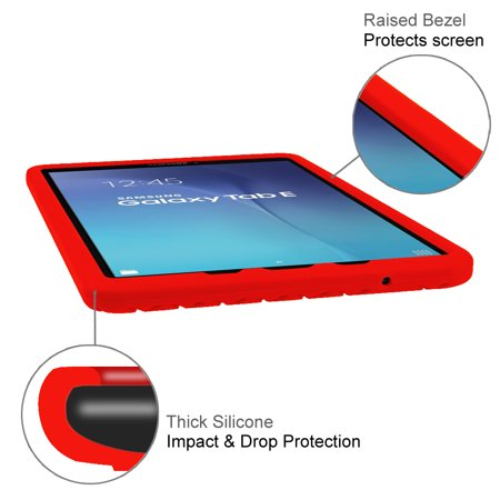 Fintie Case for Samsung Galaxy Tab E 9.6 / Samsung Tab E Nook 9.6 Silicone Lightweight Shockproof Cover,  Red - image 2 de 7