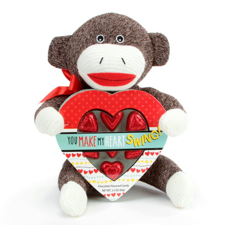 Progressive Balloons and Gifts Sock Monkey Heart Box - Super Sock Monkey