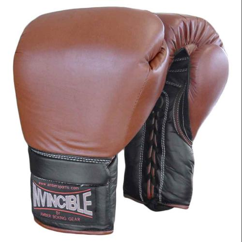 Invincible Pro Laceup Training Boxing Gloves (18 oz.)
