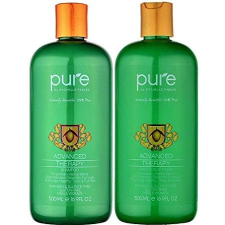 Natural Hair Growth Shampoo and Conditioner For All Hair Types. Extra Strength Formula - Paraben & Sulfate Free Shampoo & Conditioner Set for Hair Loss & Thinning