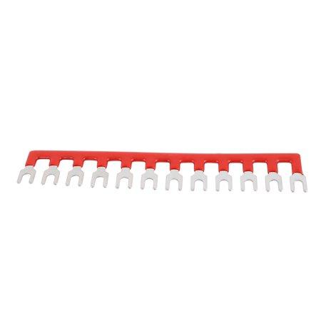 10PCS 600V 25A 6mm Pitch 12 Position PCB Terminal Block Strip Barrier Red - image 1 of 2