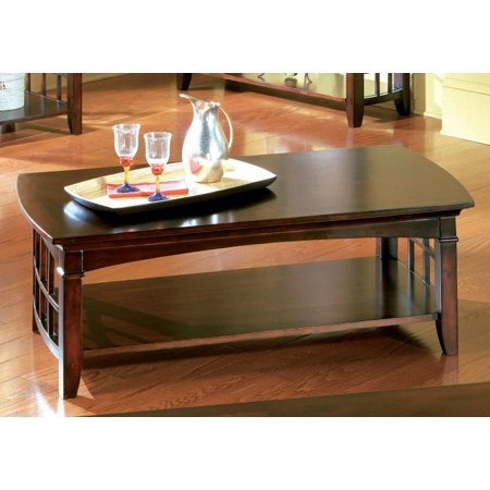 Standard Furniture Glasgow 52 Inch Cocktail Table in Chocolate Cherry