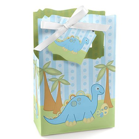 Baby Boy Dinosaur - Baby Shower Party Favor Boxes - Set of 12