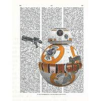 Art N Wordz Star Wars BB-8 Original Dictionary Sheet Pop Art Wall or Desk Art Print Poster