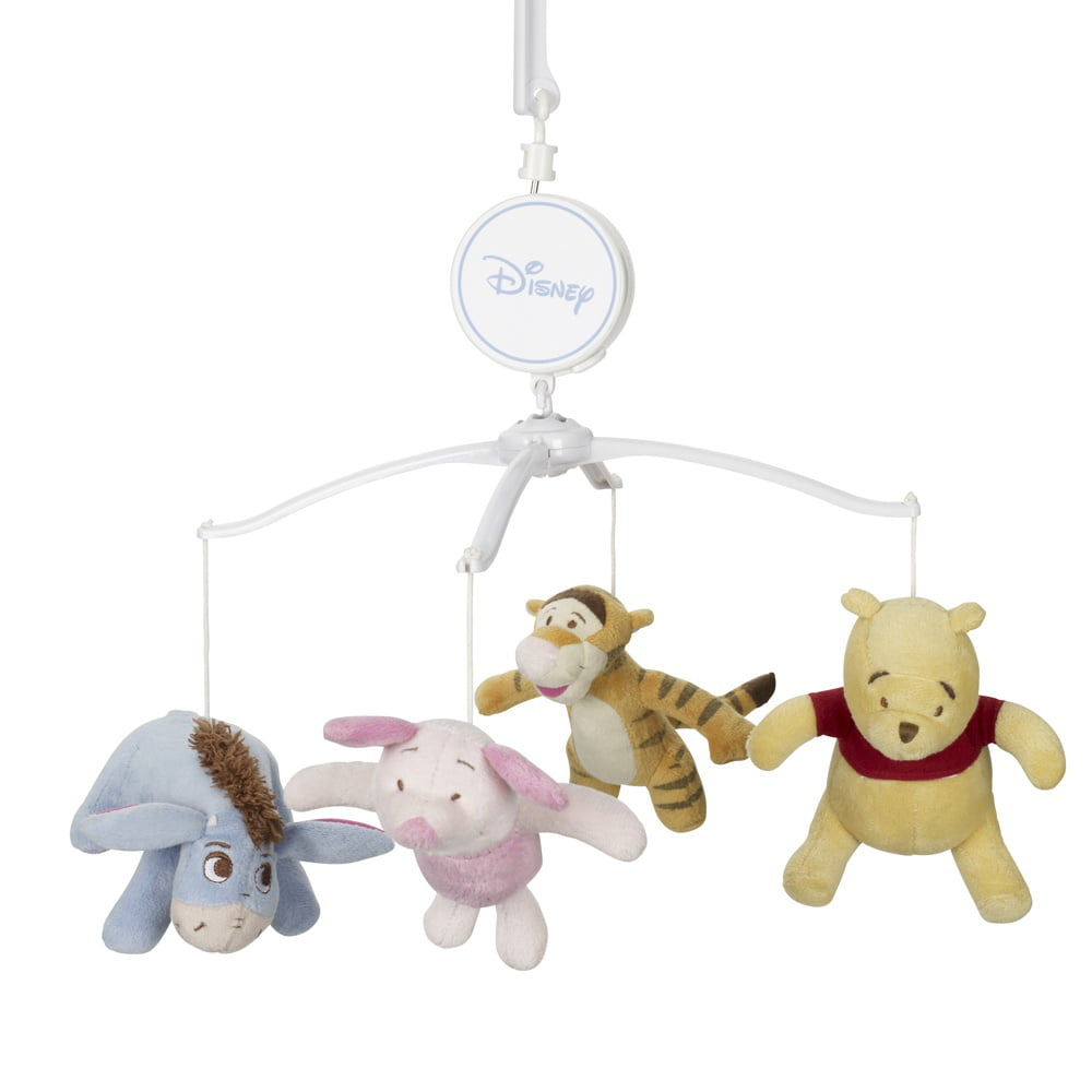 Disney Winnie The Pooh Tan, Green, Red Musical Mobile with Pooh, Piglet, Tigger and Eeyore by Disney