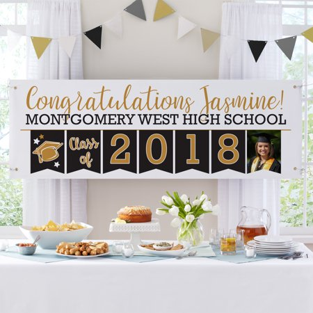 Custom Made Party Banners (Personalized Yay Grad! Celebration Photo)