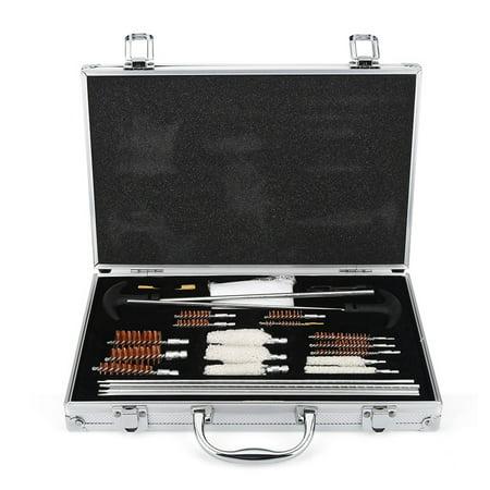 Universal Gun Cleaning Kit 28 Pieces for Rifles Shotgun Handgun Cleaning Tools Kit with