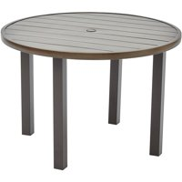 Better Homes and Gardens Camrose Farmhouse Outdoor Steel Slat Round Table