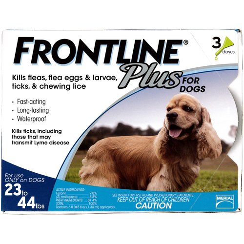 Frontline Plus Flea and Tick Control for Medium Sized Dogs, 3ct
