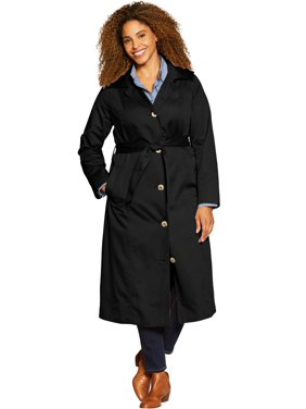 c1432846f0068 Product Image Plus Size Water-resistant Long Trench Coat