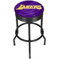 NBA Black Ribbed Bar Stool - Fade - Los Angeles Lakers