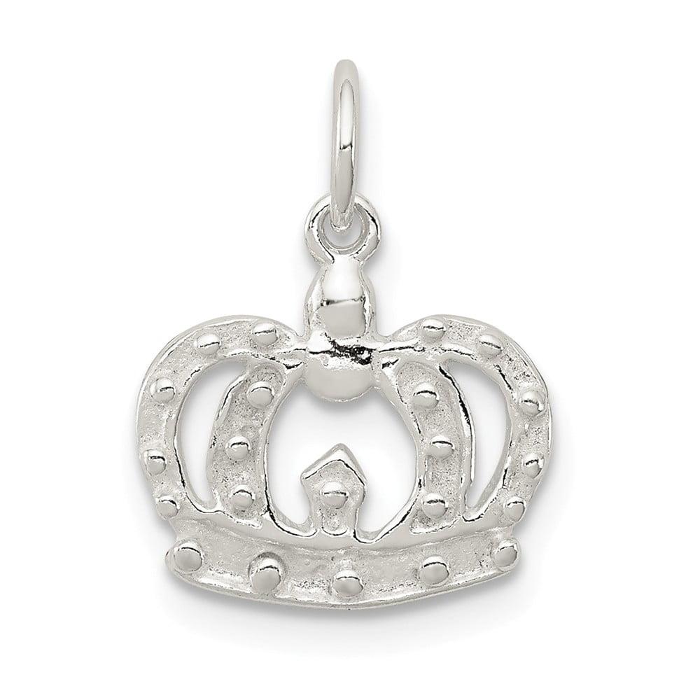 Sterling Silver Fancy Crown Pendant