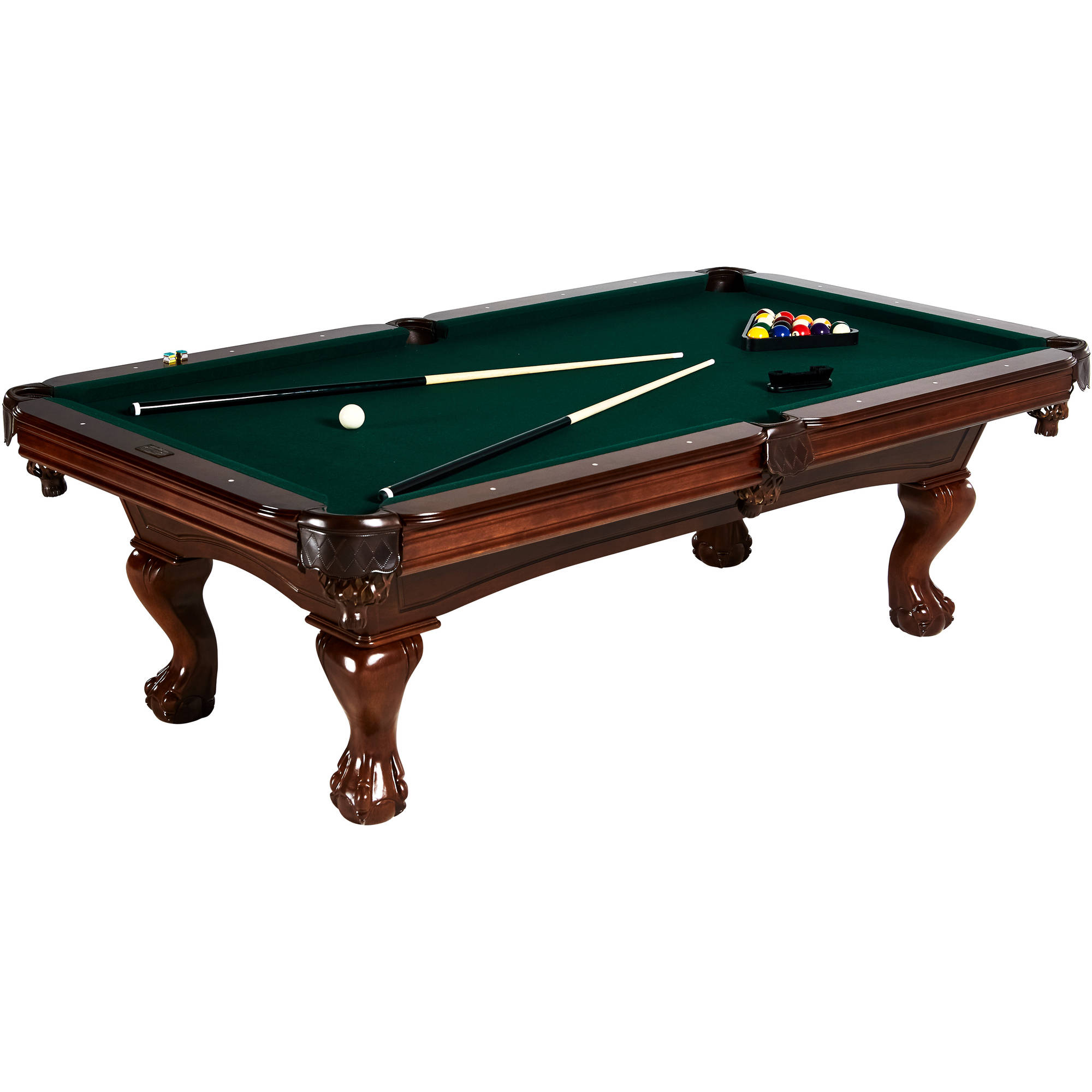 Barrington Hawthorne 100'' Pool Table, Accessories included: complete set of billiard balls, 2 cue sticks, 1 wooden... by Medal Sports