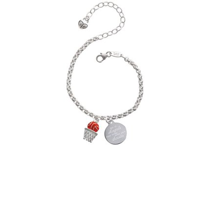 Basketball - Over Hoop Not All Angels Have Wings Some Wear Scrubs Engraved Bracelet
