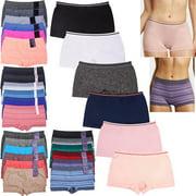 6 Pack Seamless Boyshorts Womens Underwear Lot Booty Panties Boxer Brief Spandex