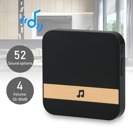 EEEKit Smart Wireless Doorbell, WiFi Doorbell Video Intercom Chime Ding-Dong Alarm Chime for Home Security Systems Indoor Chime 52 polyphonic ringtones,4 levels adjustable (Doorbell Intercom Systems)