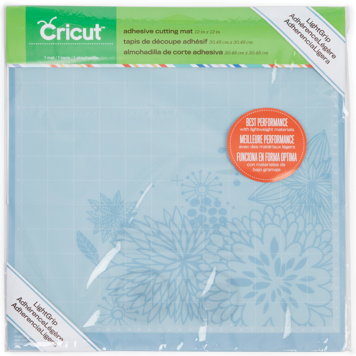 "Cricut Cutting Mat 12""X12""-LightGrip"