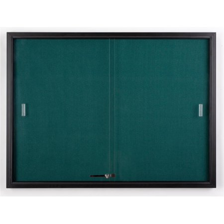 4' x 3' Teal Fabric Tack board for Wall Mount Use, Locking Sliding Glass Door, 48
