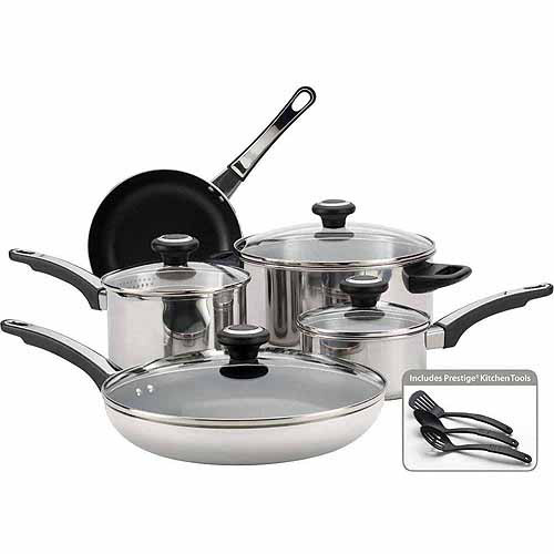 Farberware 12-Piece Cookware Set, Stainless Steel ...