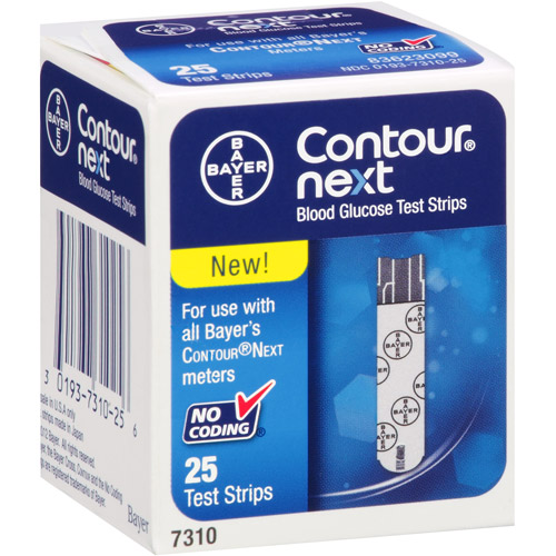 Bayer Contour Next Blood Glucose Test Strips, 25 count