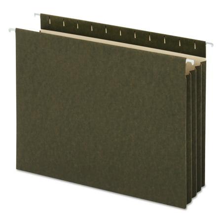 Universal Hanging Box Bottom File Pockets, 11 Point Stock, Letter, Standard Green, 10/Box -UNV14160