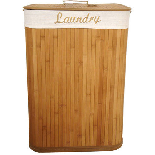 Sunbeam Bamboo Rectangle Hamper with Liner