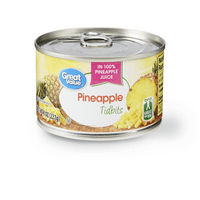 (5 pack) Great Value Pineapple Tidbits, 8 oz