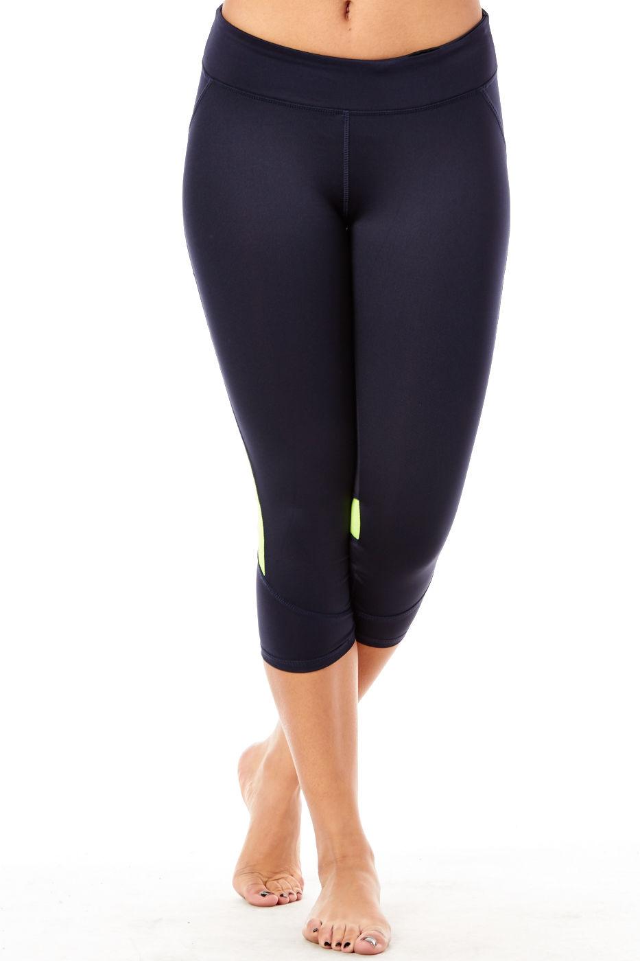 Womens Ladies Juniors Great USA Tight Active Capri Pants