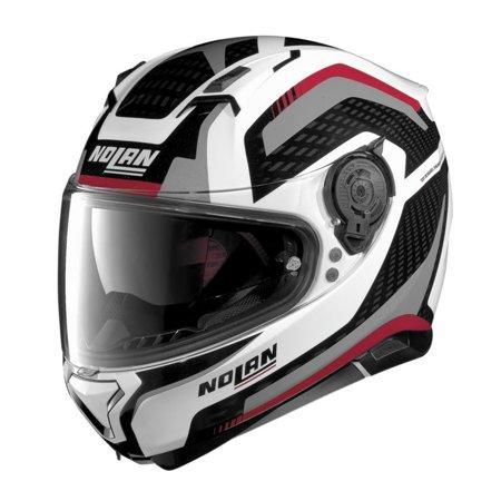 Nolan N87 Arkad Motorcycle Helmet Metallic White -