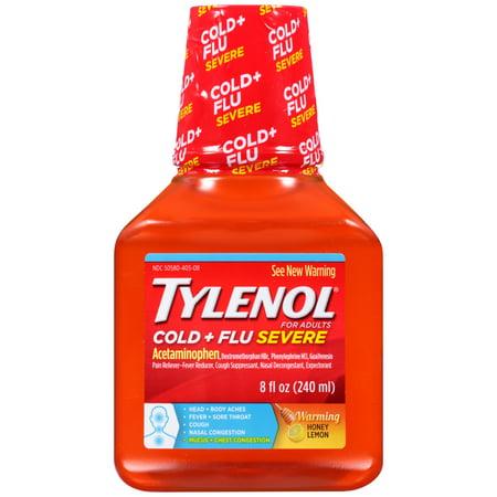 TYLENOL froide + grippe Réchauffement sévère miel citron liquide, 8 Oz.