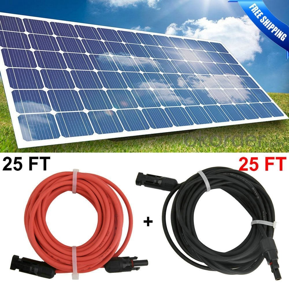 New MTN-G 50FT (2 x 25ft) solar panel Extension Cable 12A...