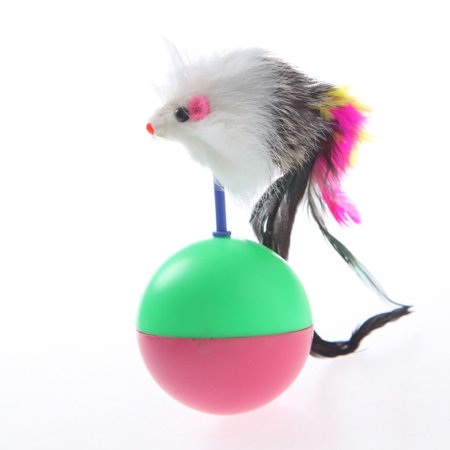 JOYFEEL Clearance 2019 Murmurous Sounds Mouse Shaped Feather Tail Tumbler Toys for Cats Color Random Best Toy Gifts for Children