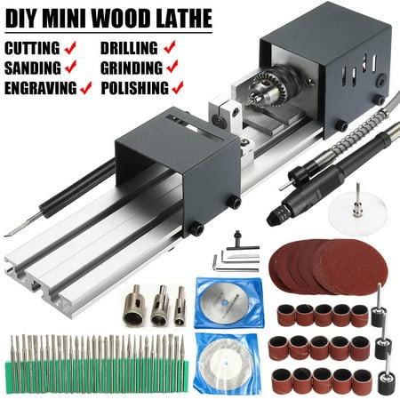 Mini Lathe Beads hine Polisher Table Saw Mini DIY Wood Woodworking Lathe