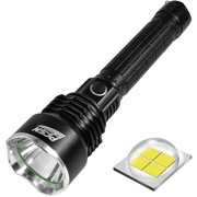 Powerful Flashlight Rechargeable Waterproof Searchlight with P50 LED Brightest 6000 Lumen Tactical Flashlight Super Bright Torch Best for Hiking Hunting Camping Outdoor Sport( Include 26650 Battery)