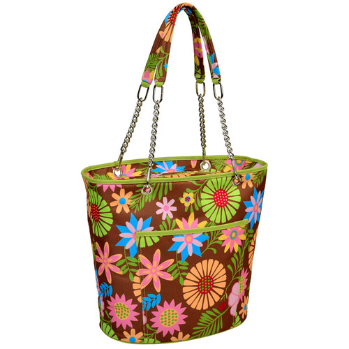 Floral Fashion Cooler Tote insulated