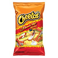 Cheetos Crunchy Flamin Hot Cheese Flavored Snacks, 6 Oz.