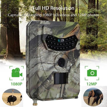 1080P 12MP Hunting Trail Camera Infrared Night Vision Scouting Camera for Wildlife Hunting Monitoring and Farm