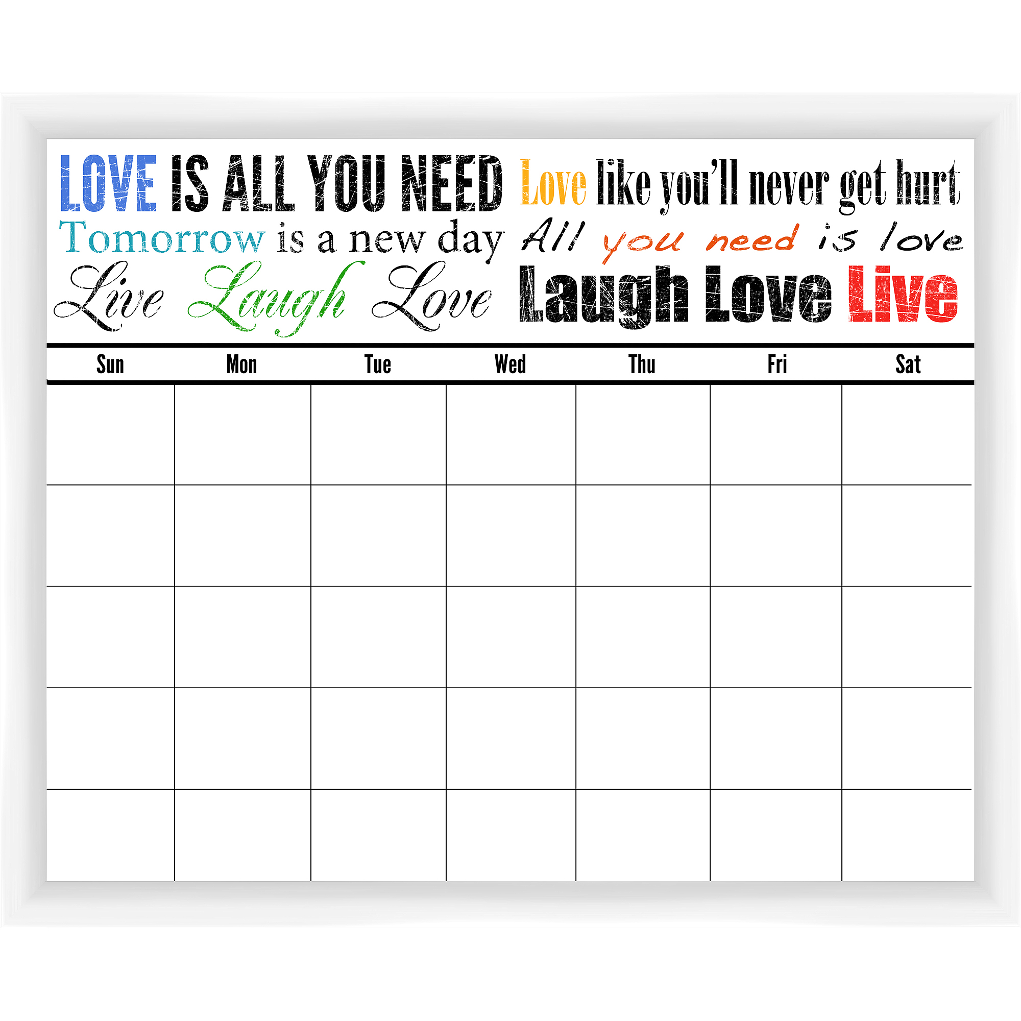 Laugh Love Live White Memoboard