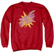 Astro Pop Blast Off Mens Crewneck Sweatshirt